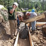 Concrete pour by edmonton construction company Hibco