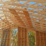 Roof joists of church installed on new construction project