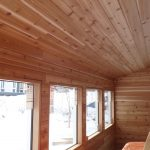 Interior wood paneling for new building project