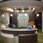 Edmonton Dental office construction – newly contructed front desk area photo