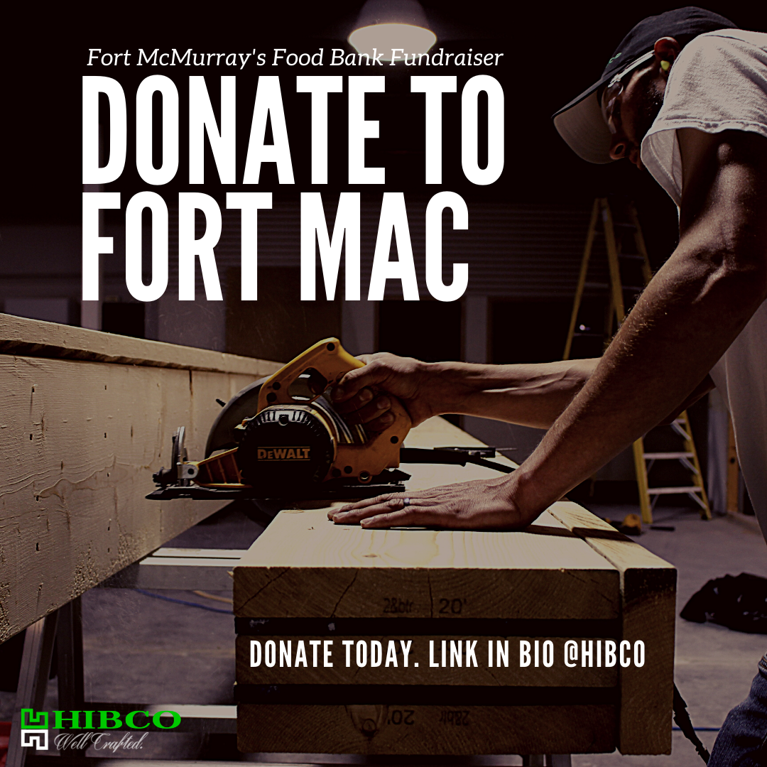 Hibco Construction Fundraiser Fort McMurray Food Bank Wood Buffalo